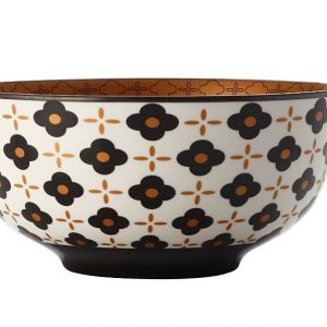 CHRISTOPHER VINE Marigold Bowl – Black Flower (18cm) CV61118