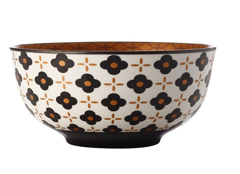 CHRISTOPHER VINE Marigold Bowl – Black Flower (18cm) CV61118