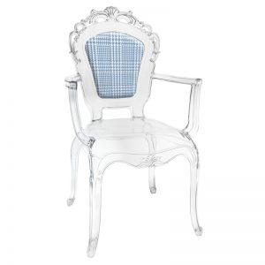 BACI MILANO – Sedia Con Braccioli Principe Di Galles Azzurro