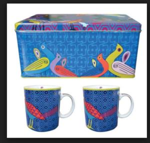 Images D'Orient Set 2 MUG Porcellana BIRDS OF PARADIS IDPOR222062