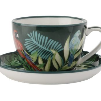 CHRISTOPHER VINE TROPICAL NIGHTS TAZZA TE' CON PIATTINO LINEA TROPICAL 260 Ml AW0229