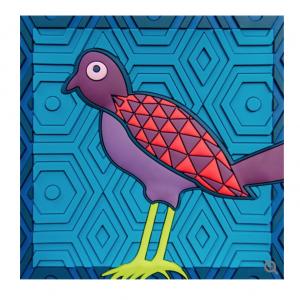 Svuota Tasche | Birds Of Paradise Blue | Images D'Orient