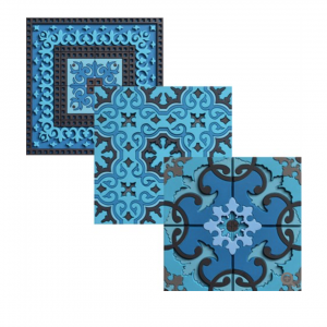 Set 6 Sottobicchieri   Blue's Combo   Images D'Orient