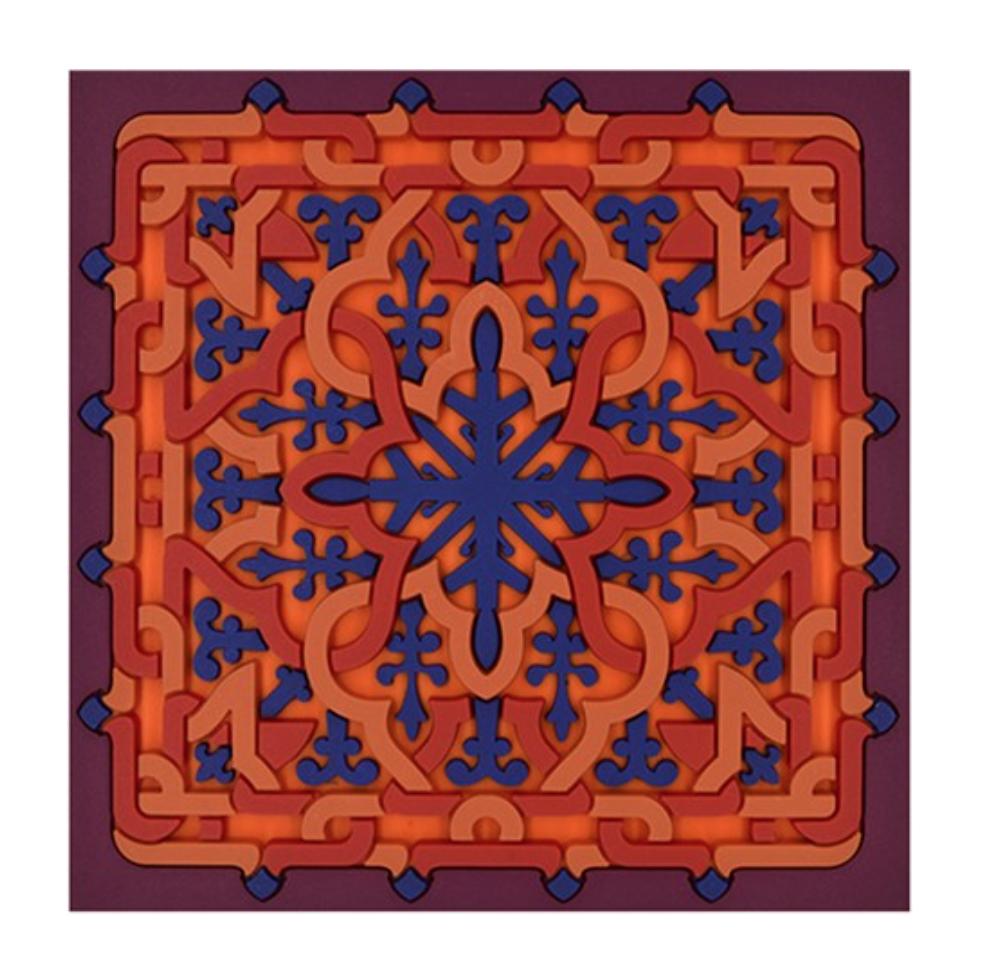 Set 2 Sottobicchieri | Vagabonde Crochet Velours | Images D'Orient