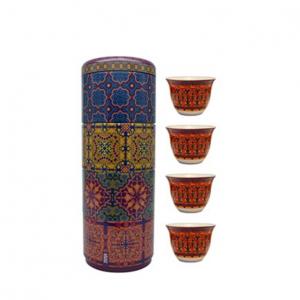 Set 4 Bicchieri Caffè Porcellana | Vagabonde | Images D'Orient