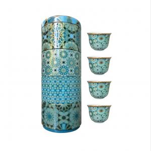 Set 4 Bicchieri Caffè Porcellana | Andalusia | Images D'Orient