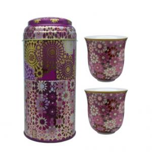 Set 2 Bicchieri Caffè Porcellana | Moucharabieh Parme | Images D'Orient