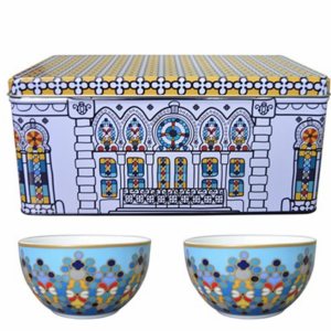 Set 2 Ciotole Porcellana | Sursock Vitrail | Images D'Orient