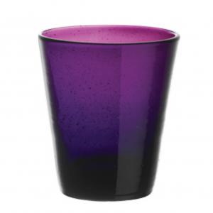 Set 6 Bicchieri Vetro | Purple | Freshness