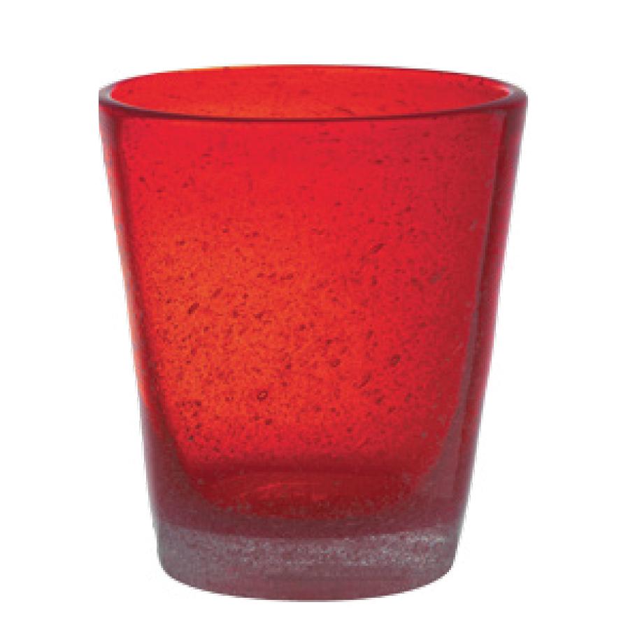 Set 6 Bicchieri Vetro | Red | Freshness