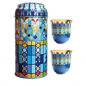 Set 2 Bicchieri Caffè Porcellana | Sursock Vitrail | Images D'Orient