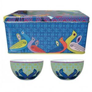 Set 2 Ciotole Porcellana | Birds Of Paradise | Images D'Orient