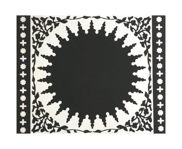 D Orient Tovagliette Di Silicone Black White Set Di 2 Grande B0722KQ7Q9